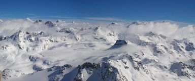 Panoramic Alps view Royalty Free Stock Images