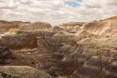 The painted desert as seen in arizona in the springtime royalty free stock photo