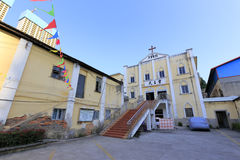 Panoramic of amoy catholic church Stock Photos