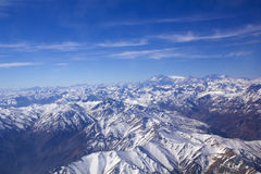 Panoramic of Andean mountains. Aerial photo Royalty Free Stock Photography