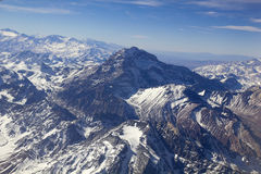 Panoramic of Andes range Royalty Free Stock Photo