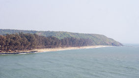 The panoramic Arambol Beach Royalty Free Stock Photography