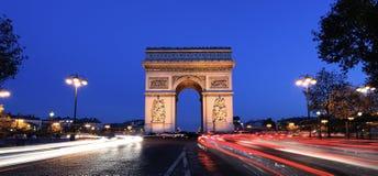 Panoramic Arc de Triomphe Στοκ φωτογραφία με δικαίωμα ελεύθερης χρήσης