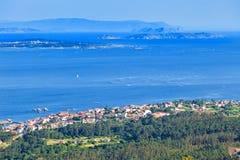 Panoramic of Arosa estuary Stock Photos