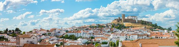 Panoramic of Arraiolos. Panoramic view of Arraiolos. Portugal, Alentejo Royalty Free Stock Photography