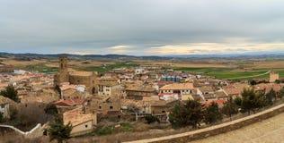 Panoramic of Artajona Stock Photo