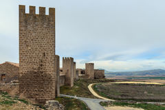 Panoramic of Artajona Royalty Free Stock Photos