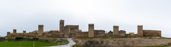 Panoramic of Artajona Royalty Free Stock Images