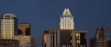 Panoramic Austin during sunset royalty free stock photos