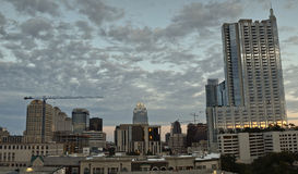 Panoramic Austin during sunset Stock Photography