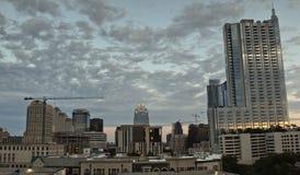 Panoramic Austin during sunset stock photography