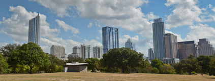 Panoramic Austin Texas skyline Stock Image
