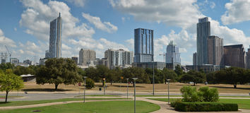 Panoramic Austin Texas royalty free stock photo