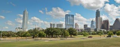Panoramic Austin Texas. Panoramic view of downtown Austin , TX Royalty Free Stock Photos