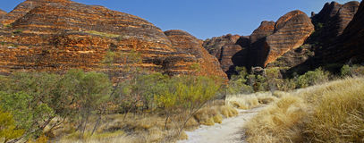 Panoramic Australian landscape with geological feature of rollin Royalty Free Stock Photos