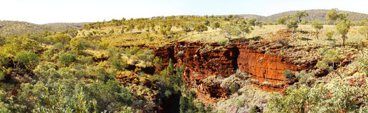 Panoramic Australian landscape -  Karinji National Park gorge, W Stock Photos