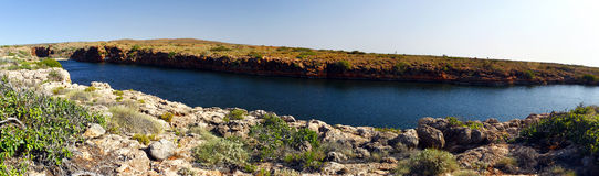 Panoramic Australian landscape- Yardie Creek Gorge in the Cape R Royalty Free Stock Photography