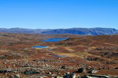 Panoramic autumn landscape Royalty Free Stock Photos