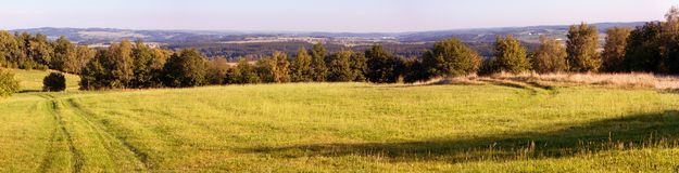 Panoramic autumnal scenery. From Bohemian and Moravian highlands - Czech Republic Royalty Free Stock Photography