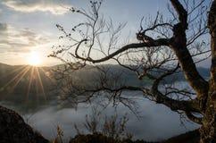 Panoramic autumnal view from Sulov rockies - sulovske skaly - Slovakia Royalty Free Stock Photo
