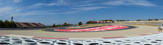 Panoramic Barcelona circuit. Royalty Free Stock Photography