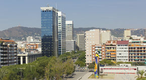 Panoramic of Barcelona Stock Image