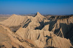 Panoramic of the Bardenas Reales Royalty Free Stock Images
