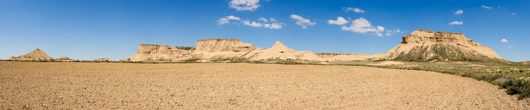 Panoramic of the Bardenas Reales Stock Photography