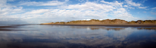 Panoramic in Barmouth. Wales Stock Images