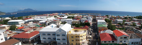 Panoramic Basseterre St Kitts (Nevis)capital city Royalty Free Stock Photo