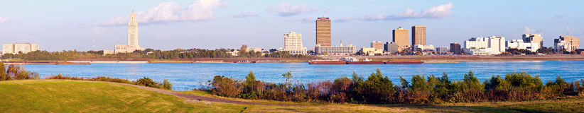 Panoramic Baton Rouge. Seen late afternoon royalty free stock image