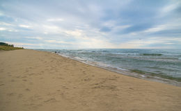 Panoramic Beach Background Royalty Free Stock Photo