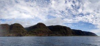 Beautiful Na Pali Coast as seen from off shore stock photo