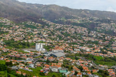 Panoramic beautiful views of Funchal from the pico dos barcelos, Madeira island, Portugal Stock Photo