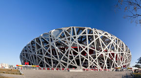 Panoramic of the Beijing National Stadium Royalty Free Stock Photos