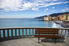 Panoramic bench - Camogli Stock Image