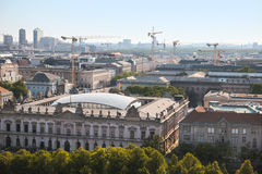 Panoramic Berlin. Aerial view panorama of berlin, sunny day Stock Image