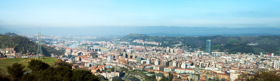 Panoramic Bilbao Royalty Free Stock Photos