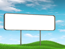 Panoramic billboard on grass Stock Image