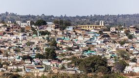Panoramic bird eye view of city of Jugol. Harar. Ethiopia. Stock Photo