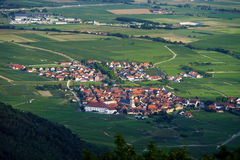 Panoramic bird fly view to Alsace Royalty Free Stock Photography