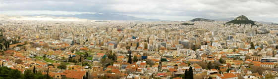 Panoramic bird's eye view of Athens Stock Photos