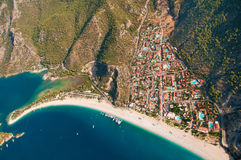 Panoramic bird's-eye view on Turkey, Oludeniz. Stock Images