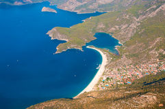 Panoramic bird's-eye view on Turkey. Stock Photography