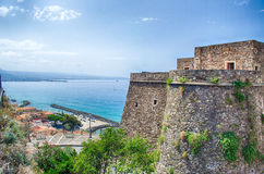 Panoramic bird-view from Murat Castle, Pizzo Calabro Stock Images