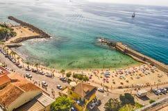 Panoramic bird-view of Pizzo Calabro coastline Stock Photo