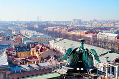 Panoramic birds eye view of Saint-Petersburg center in Russia. Royalty Free Stock Image
