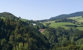 Panoramic Black Forest scenery Stock Photography
