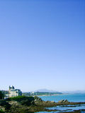 Panoramic of a Bourgeois house in Biarritz Stock Image