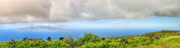 Panoramic of Brava at sea Royalty Free Stock Photo